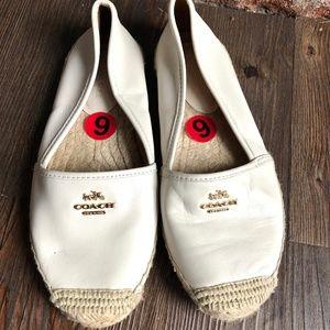 COACH RHODELLE Espadrille Flats Shoes Leather ~ 6